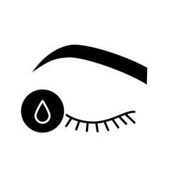 Primer for eyelash extension glyph icon vector