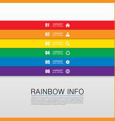 Rainbow info art vector