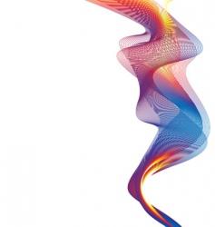 rainbow smoke background vector image