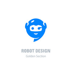Robot logo communication messenger icon computer vector