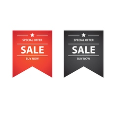Sale buy now tape banner - isolated vector image
