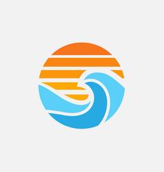 sea icon logo design vector image