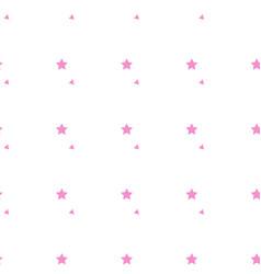 seamless pattern pink pentagonal five point vector image
