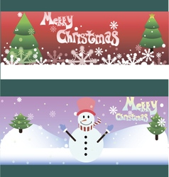 Set of two funny christmas cards vector image