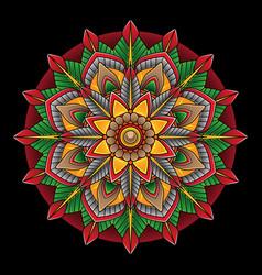 simple flower flash tattoo vector image