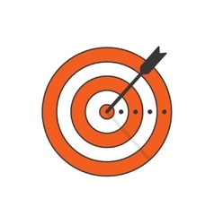 Target arrow icon concept of goal aim vector