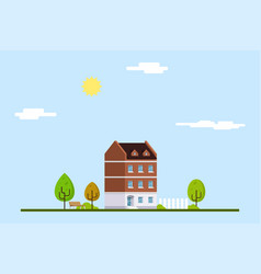 townhouse urban landscape vector image