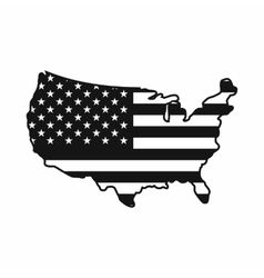 USA map icon simple style vector