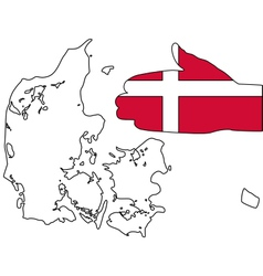 Welcome to Denmark vector