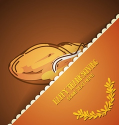 With thanksgiving and fried chicken vector