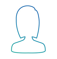 woman silhouette avatar character vector image