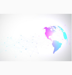 World map point with global technology networking vector