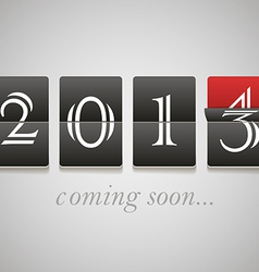 2014 coming soon vector image vector image