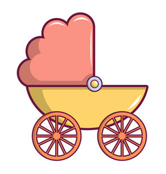 baby carriage icon cartoon style vector image