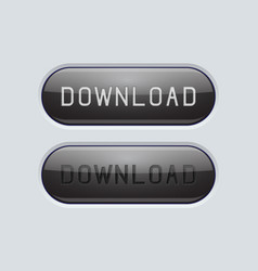 Download black buttons set of normal and active vector