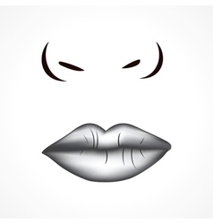 Face of beautiful woman background vector image vector image