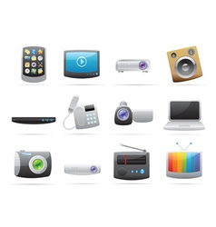 Icons for devices vector image vector image