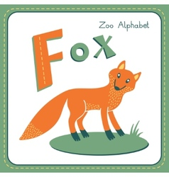 Letter F - Fox vector image vector image
