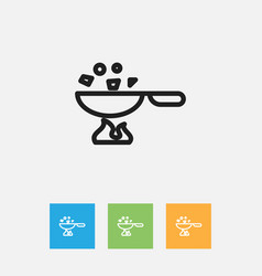 of cook symbol on wok outline vector image