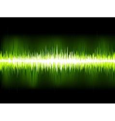 Sound waves oscillating on black EPS 10 vector image