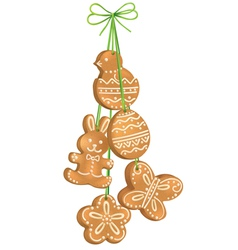 Easter biscuits vector image