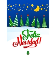 Happy New Year Background Inscription Spanish vector image