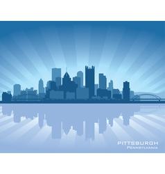 Pittsburgh Pennsylvania skyline vector image vector image