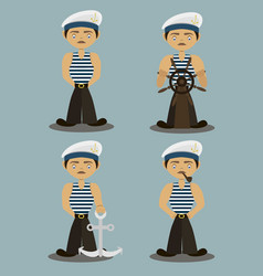 sailor characters set vector image vector image
