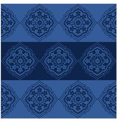 Seamless Persian Flower Pattern Design vector image