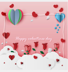 valentines day card on a pink background vector image