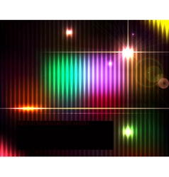 Dark abstract shiny technology spectrum background vector image