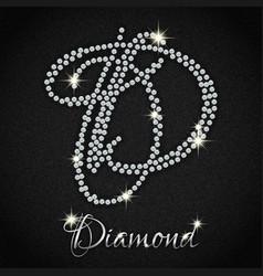 diamonds on black denim vector image