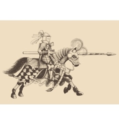 Horseback Knight of the tournament vector image vector image