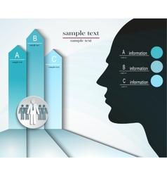 infographics men abc vector image