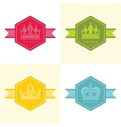 Light crown icons in color vector image vector image