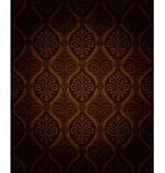 Seamless damask wallpaper vector image vector image