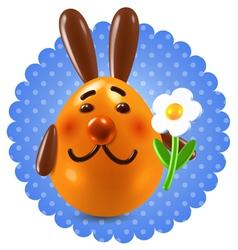 Sweet redhead rabbit congtatulations vector image vector image