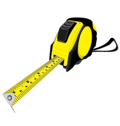 Tape measure isolated on white background vector image vector image