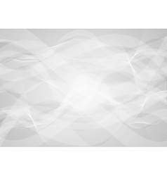 Abstract grey wavy background vector image vector image