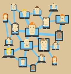 Abstract modern social network scheme vector image