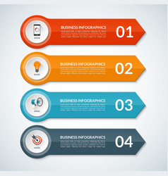 Infographic template banner with 4 options vector image