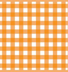 orange tablecloth pattern design vector image vector image
