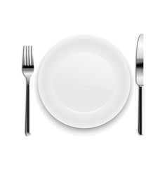 plate with spoon isolated vector image vector image