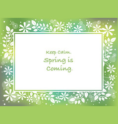 rectangular abstract springtime frame vector image