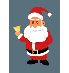 Santa Claus with golden bell vector image vector image