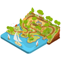 3d isometric cross section vector