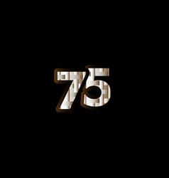 75 years anniversary celebration elegant black vector