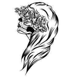 a day dead women with beautiful face vector image
