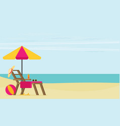 a tropical sea island flat design vector image