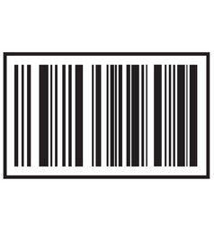 barcode icon black bar code icon symbol about vector image
